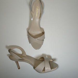 Women's cream color heel sandals
